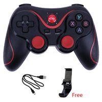 support de joystick bluetooth achat en gros de-Manette de jeu sans fil Bluetooth 3.0 T3 Gamepad Controller X3 Gaming Télécommande pour Tablet PC Android Smartphone Avec Support
