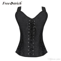 6eec608b66f ... Steampunk Corset Black Gothic Sleeveless Sexy Bustiers Push Up Corsets  Body Shaper Bustier Plus Size No14. 36% Off