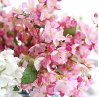 Wholesale japanese garden trees for sale - Group buy free shiping emulational Japanese Cherry Flower Garden Bonsai Trees Wedding Or Home Desk Or bottle decoration