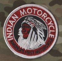 Wholesale indian clothing free shipping online - Vintage Indian Patch Iron On Patch Motorcycle Biker Club Front Jacket Vest Patches for Clothing