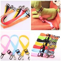 Wholesale dog collar for cars for sale - Colorful Pet Dog Collars Outdoor Pets Dogs Car Seat Belt For Seatbelt Harness Lead Clip Creative Pet Supplies rq X