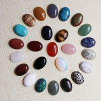 anillo oval de cabujón al por mayor-Venta al por mayor 18 mm * 25 mm de alta calidad de piedra natural oval CAB CABOCHON granos de la lágrima joyería de DIY que hace el anillo envío gratis