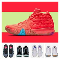 Discount laser cut christmas - 2018 New IV 4 Laser Fuchsia Fireworks South Coast 90s Red Basketball Shoes for High quality Mens Trainers 4s Cheap Sports Sneakers Size40-46