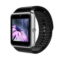 gsm tela livre venda por atacado-Smartwatch gt08 bluetooth smart watch telefones suporte gsm 32 gb tf cartão de tela de toque smartwatch relógios bluetooth frete grátis