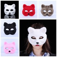 Wholesale sexy toys cosplay for sale - Group buy Halloween Fox Fur Mask Women Party Fashion Sexy Masquerade Mask Realistic Fox Half Animal Mask Fox Plush Toys Cosplay Dance Masks AAA1221