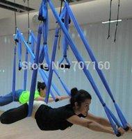 ingrosso swing inversione yoga-Amaca di trapezio dell'imbracatura dell'oscillazione di yoga per lo strumento di inversione di yoga della palestra grande Bearing-5pcs Trasporto libero