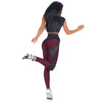 Wholesale thick knitted pants - New Hot Women Leggings Fitness Adventure Time Patchwork Thick Legging High Elastic Workout Leggings Sporting Pants