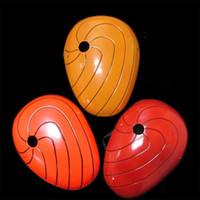Wholesale mask heat online - Eco Friendly Face Masquerade Heat Resistant Moisture Proof Mask Pvc Anime Cos Naruto Tobi Masks Party Decor qc jj