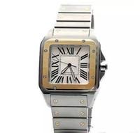 relojes de cara blanca para hombre. al por mayor-Serie limitada Sans serie W200728G muñeca reloj automático movimiento blanco cara 316L acero correa original reloj hombres