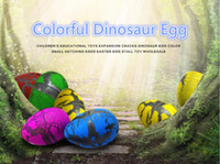 Wholesale magic gags - 60pcs with retail box Magic Water Hatching Inflation Growing Dinosaur Eggs Toy For Children Educational Novelty Gag Toys A610413