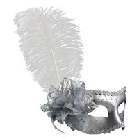 Wholesale clearbridal resale online - Women s Clearbridal Mask Masquerade Venetian Feathers MJ024 With Tiiot