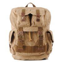 Wholesale color canvas art resale online - Canvas Backpack Unisex Color Casual Rucksack School College Bags Satchel Bookbag Large Capacity Travel Rucksack Business Daypack D173S