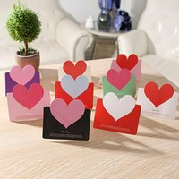 Wholesale gift cards resale online - New Creative Universal Love Greeting Card Valentine S Day Gift Cards Heart Shape Birthday Card Postcard