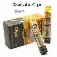 Wholesale disposable cigs - New Disposable Cigar 1800 Puffs E Cigarettes Starter Kits E Cigars 900mAh Vape Pen 4 Flavours 100% High Quality Disposable E Cigs