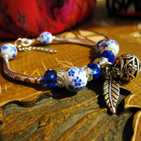 Wholesale chinese porcelain bracelet resale online - Fashion Bracelet Handmade Chinese Miao Silver Jewelry Fashion Style Bracelet Tourist Commemoration of Business Gift hot sell