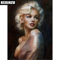 "Wholesale marilyn monroe abstract paintings - 2018 New Arrival Full Square Diamond 5D DIY Diamond Painting ""Marilyn Monroe"" Embroidery Cross Stitch Rhinestone Mosaic Painting Decor Gift"