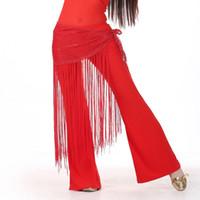 ingrosso sciarpa di vita di ballo della pancia-Belly Dance Hip Scarf Accessori danza del ventre Catena con paillettes per ballerina Decorazione con nappe Cintura Bellydance Hip Scarf