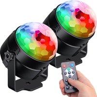 ingrosso ball room balls-Luci da ballo attivate dal suono con telecomando Illuminazione DJ, Luci da discoteca RBG, Lampada stroboscopica 7 modalità Luci da palco per la casa