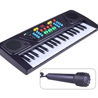 Wholesale electronic piano organ - Children Electric Piano Toys Early Education Simulation Musical Instruments For Kids 37 Keys Electronic Organ Gift 22 5bj WW