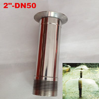 "DN50 2"" Stainless Steel Mushroom Pool Fountain Nozzle Spray Head Pond"