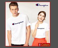 восемь рук оптовых-Есть восемь цветов для мужских и женских футболок, написанных от руки в круглых воротниках