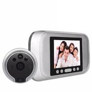 lcd de seguridad para el hogar con cable al por mayor-Timbre digital Cámara 3.2 pulgadas 720P Visor de la puerta Cámara de seguridad ocular Sensor Detector de movimiento PIR de 120 grados
