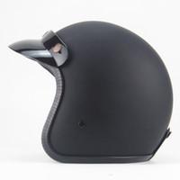cascos para moto оптовых-HOT sale Open Face Half Moto Helmets vintage Motorbike motociclet cascos para moto racing motorcycle  helmet