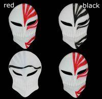 Wholesale bleach ichigo full cosplay online - Halloween Mask black red death mask ghost step dance ichigo kurosaki mask bleach ichigo hollow cosplay