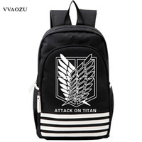 Wholesale japan anime cosplay - Shingeki no Kyojin Scouting Legion Oxford Schoolbag Attack on Titan Japan Anime Cosplay Backpack Shoulders Bag for Students Gift