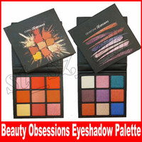Wholesale eyeshadow palette style - New Beauty Makeup Eyeshadow Palette 9 color Obsessions pallets 2 Style Gemstone Coral Eye Shadow free shipping