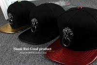 Wholesale baseball skins - Snake skin along a baseball cap.Lion head street wind fashionable man Hip-hop cap.Chinese style personality Baseball cap