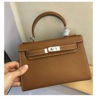Wholesale high quality hardware resale online - 22CM Mini Women Totes Fashion Bags Shoulder Bag With Lock Genuine leather Silver Hardware Alligator lady Handbag High Quality