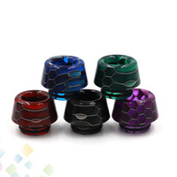 Wholesale e cigarette skins for sale - Group buy Mushroom Shape Epoxy Resin Drip Tip Snake Skin Drip Tips for TFV8 TFV12 Prince TFV8 BIG BABY Vape E Cigarette Tank