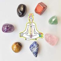 piedras minerales al por mayor-Piedras curativas de Reiki Chakra de cristal natural / Estuche de chakra Conjunto de 7 piedras de Chakra Piedras naturales y minerales