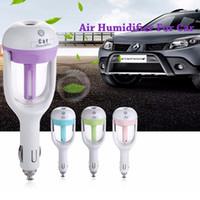 difusor do carro venda por atacado-Nova USB Car Plug Umidificador Fresco Refrescante Fragrância ehicular umidificador ultra-sônico óleo essencial Aroma névoa difusor do carro