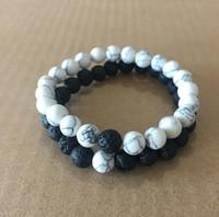 pulseira de meditação venda por atacado-Mulheres Homens Natural Contas de Pedra de Lava Pulseiras Chakra Cura Meditação de Pedra de Energia Pulseira Mala Difusor de Óleo Essencial de Moda Jóias