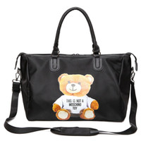 Wholesale Media Bear - Bear handbag cartoon fashion Large Capacity Travel Duffle Waterproof Beach Bag Shoulder Bag 0.84KG 54X20X28cm