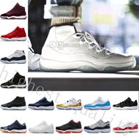 Wholesale Womens Glitter Boots - Gym Red GS Midnight Navy Win Like 82 11 Breds Basketball Shoes New 11 Space Jam Mens Sports Shoes Womens Trainers Boots 11 XI Mens Sneakers