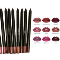Wholesale dark brown lip liner online - Beauty Cosmetics Colors Waterproof Lip Coutour Liner Pencil Pen Lip Gloss Lipliner Lipstick maquillage Kit