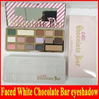 Wholesale chocolate bar eyeshadow palette 16 resale online - Factory direct New Faced White Chocolate Bar Colors Eyeshadow Palette Shimmer Matte Makuep Palette DHL gift