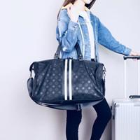 gepäckbeutel umreifung großhandel-Hochwertige Gepäck Reisetaschen für Männer Oxford Duffle Handtasche wasserdicht große Gurt Veranstalter Folding BackpacFree Versand