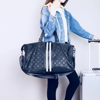 gepäckbeutelriemen groihandel-Qualitäts-Gepäck-Reisetasche für Männer Oxford Duffle Handtasche wasserfeste Bügel Organizer Folding BackpacFree Versand