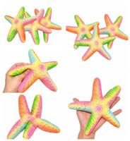 Wholesale Starfish Cartoon - Jumbo Starfish Toy Squishy Slow Rising Squeezing Toys Cartoon Rainbow Starfish Toy Cute Soft Kids Toys Home Decor Stress Relief Toy YFA58