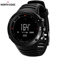 Wholesale weather barometers - NORTH EDGE Mens Sport Digital Watches Hours Climbing Hiking Compass Altimeter Barometer Weather Thermometer Running Swimming