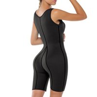 ingrosso body shaper jumpsuits-Sexy Body in neoprene Body Shaper Donne che dimagrisce Trainer Vita Corest Tuta Femminile Plus Size Dropshipping Bodyshaper