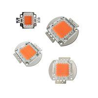 epistar boncuklar toptan satış-Tam Spektrum COB LED Büyümek Çip Yüksek Güç 10 W 30 W 50 W 100 W 380NM-840NM DIY LED Işık Büyümeye Kiti Epistar 35mil 45mil Pembe boncuk