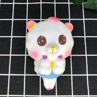 Wholesale lamb toys - Lamb Squishy Slow Rebound Squishies Rising Jumbo Kawaii Cartoon Squeeze Vent Toy Simulation Small Sheep Lovely Ornament hw V