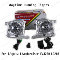 Wholesale Turn Signal Lights Toyota - High Bright Car LED DRL Daytime Running Lights For Toyota C Landcruiser FJ200 LC200 fog lamp 2012-2015 Turn Signal Lamps