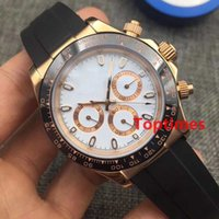 Wholesale Watch Diver Men - Luxury Rubber Strap 116515 AAA Brand Mens Wristwatch Automatic Watch Rose Gold Fashion Brands Casual designer Men For Reloj Master Watches