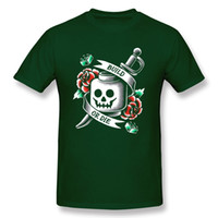 ropa rosa vintage al por mayor-Camiseta de Build or Die Camiseta de hombre Camiseta negra Camiseta de algodón Camiseta de cráneo Tops Plus Size Clothing Rose Vintage